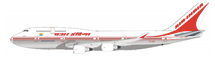 Air India Boeing 747-400 VT-EVA Polished With Stand