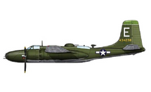 A-26B Invader USAAF 3rd BG, 89th BS, #44-34298, Okinawa, Japan