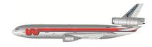 Western Airlines DC-10-10 N908WA Maui-No Ka Oi Polished With Stand