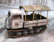 German Steyr RSO/01 Crawling Tractor Winter 1944