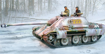 German Late Version Sd. Kfz. 173 Jagdpanther Tank Destroyer Winter Camouflage, The Ardennes Offensive (Dec. 1944 - Jan. 1945)