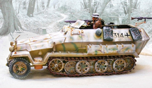 German Sd. Kfz. 251 Ausf. C Half-Track Winter 1944, WWII
