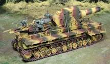 THOR Railway Gun German Normandy, single railway gun (camouflage) WWII