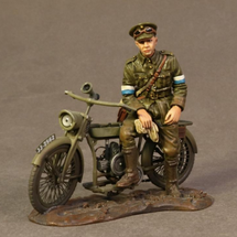 Despatch Rider on Motorbike, Royal Engineers Signal Service(RESS), The Great War, 1914-1918, single figure on motorcycle