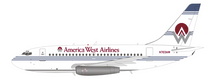 America West Airlines Boeing 737-100 N703AW With Stand