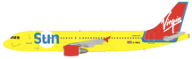 Virgin Sun Airbus A320-200 G-VMED With Stand