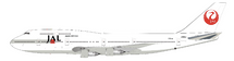 Japan Airlines JAL Boeing 747-300 JA812J With Stand