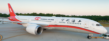 """Shanghai Airlines Boeing 787-9 B-1111 """"100th"""" With Stand"""