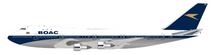 BOAC Boeing 747-100 G-AWNL Polished With Stand