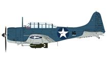 SBD-2 Dauntless USN VS-71, Black 16, USS Wasp, August 1942