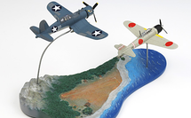 F4U Corsair & Japanese Zero Guadalcanal Island, 1943 2-Piece Set