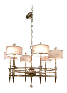 Global Views Classic Nickel Star Chandelier