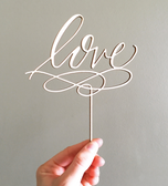 Cake Topper Madera Love