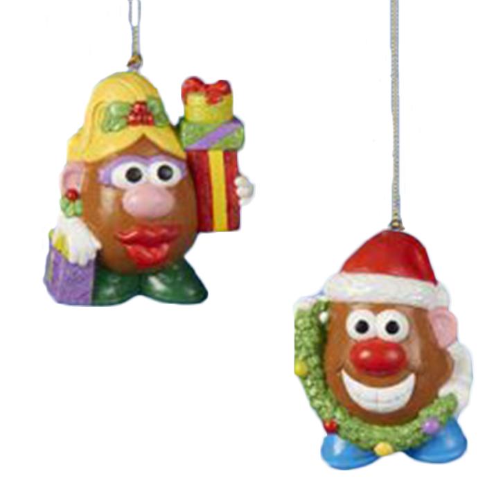 Mr mrs potato head christmas tree ornament