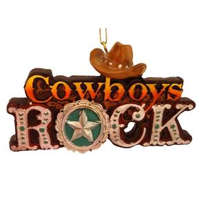 Cowboys Rock Ornament (front)