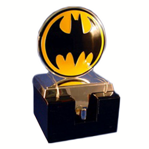 Silver Batman Logo Stocking Hanger.