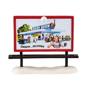 Dairy Queen Billboard Department 56 Original Snow Village