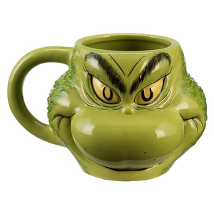 Dr. Seuss Grinch Sculpted 18oz Ceramic Mug