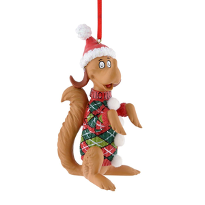 The Grinch's Dog Max Argyle Sweater Ornament