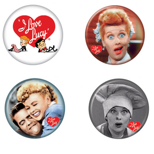 I Love Lucy Buttons 4-Pack