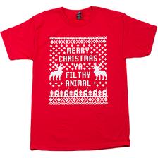 Home Alone Red T-Shirt- Merry Christmas Ya Filthy Animal