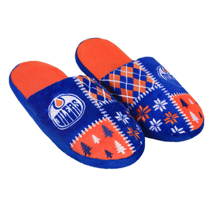 Edmonton Oilers Ugly Sweater Slippers NHL