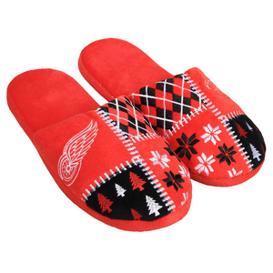 Men's Detroit Red Wings Ugly Sweater Slippers