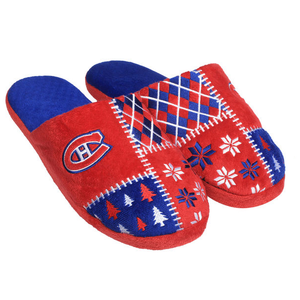 Men's Montreal Canadiens Ugly Sweater Slippers