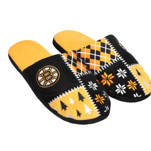 Boston Bruins Ugly Sweater Slippers