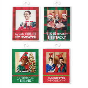 Ugly Sweater Polaroid Magnet Frames 4 assorted