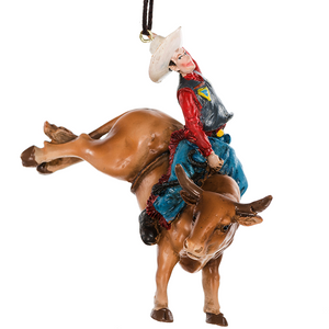 Bucking Bronco Stampede Ornament