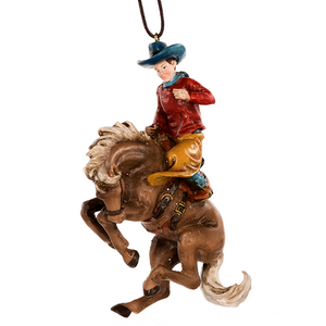 Bucking Horse Stampede Ornament