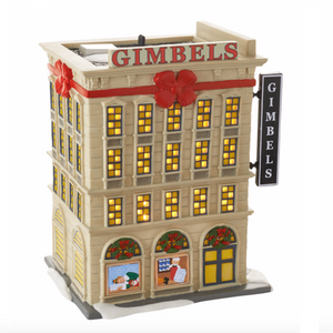 Gimbels Department Store Lighted Building - Elf the Movie Department 56 Village