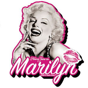 Marilyn Monroe Black and White Chunky Magnet