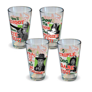 A Christmas Story - Retro Pint Glass Set