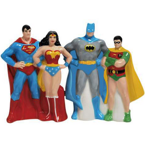 Superfriends Salt & Pepper Shaker!