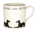 Mug Love Me Love My Dog - Long dog reclining