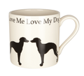 Mug Love Me Love My Dog - Long dog standing