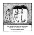 Dad's position in the family pecking order!  'Off the Leash' print by Rupert Fawcett