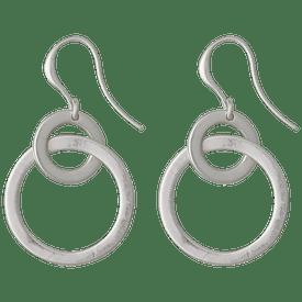 Pilgrim Shapes Circle Drop Earrings Silver Plated