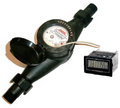 Plastic Water Meter with Resettable LCD Display