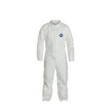 DUPONT TYVEK COVERALL ZIP FRONT LARGE TY120S-L