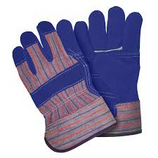 MEMPHIS BLUE TRIPLE LEATHER PALM WORK GLOVES / LARGE - 1455-B