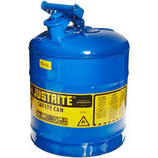 JUSTRITE 5 GAL BLUE (KEROSENE) TYPE I SAFETY CAN - 7150300