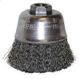 "FLEXOVIT 6"" x 5/8""-11 CRIMPED WIRE CUP BRUSH - .020 CARBON C1830"