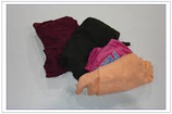 COLORED SWEATSHIRT RAGS  / 25 LB BOX