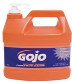 GOJO ORANGE HAND CLEANER W/PUMICE AND PUMP - 0955-04
