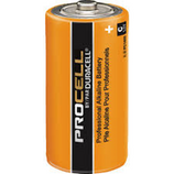 "Duracell Procell ""C"" Alkaline Battery  Thanks to high quality manufacturing and materials, including Super Conductive Graphite technology in the cathode, Procell batteries provide long-lasting power and outstanding performance. Each battery is tested for voltage and leakage before release to ensure dependable power – even after up to seven years of storage. And they can operate in temperature extremes from -4°F to 130°F. With unparalleled performance that matches the Duracell Coppertop batteries, but with lower costs because of bulk packaging and lower advertising costs, the Duracell Procell batteries are an easy choice. Made in the USA!"