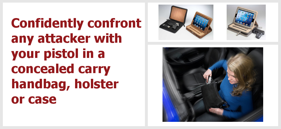 Be ready for any attack with concealed carry handbags.