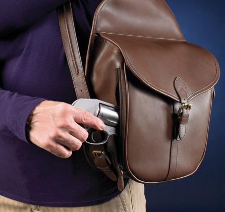 Uniquely designed concealed carry everyday handbag